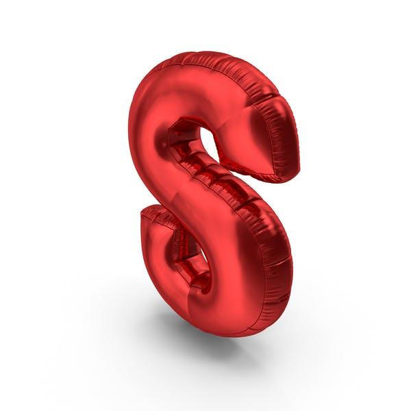 Фольга воздушный шар буква S