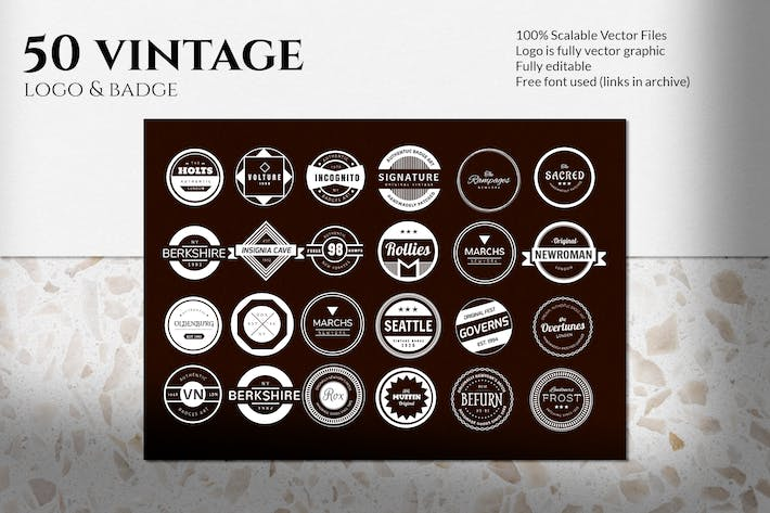 Thumbnail for Vintage Logo and Badge