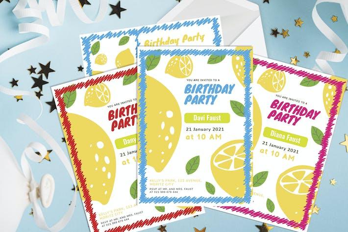 Lemon - Birthday Kids Invitation