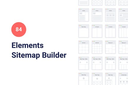 84 Sitemap Elements for PowerPoint