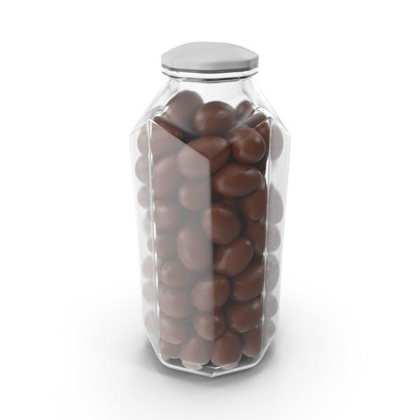 Octagon Jar with Chocolate Eggs