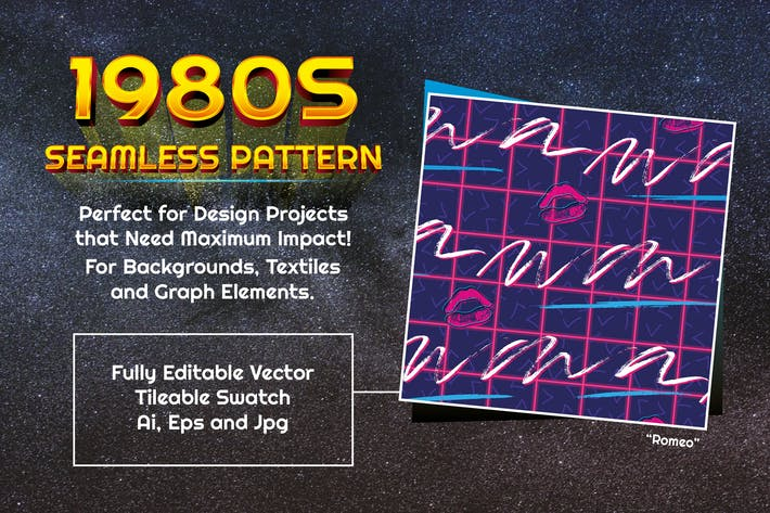 Cover Image For 1980s Seamless Pattern