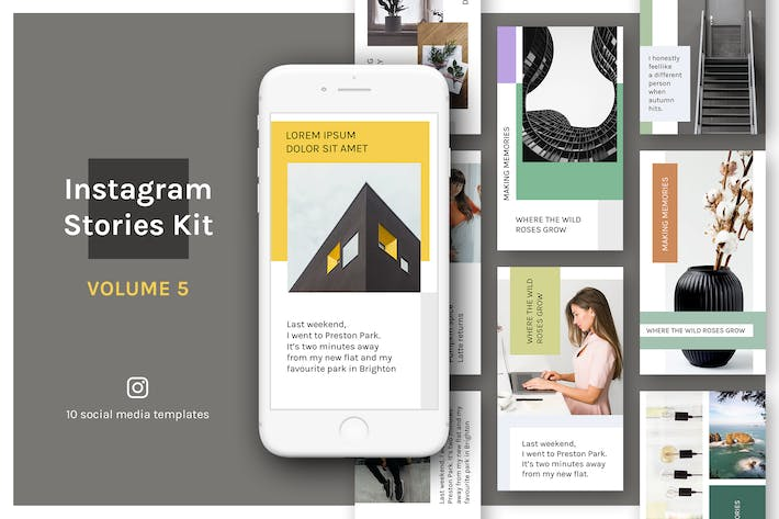 Thumbnail for Instagram Stories Kit (Vol.5)