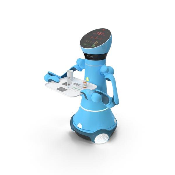 Medizinischer Service-Roboter mit Medizin