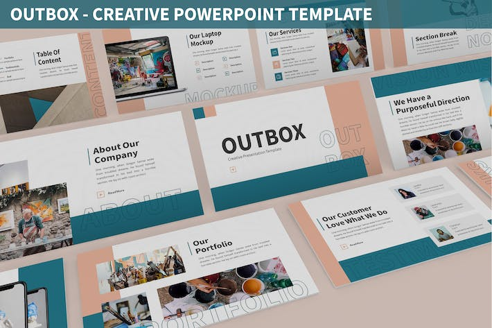 Thumbnail for Outbox - Creative Powerpoint Template