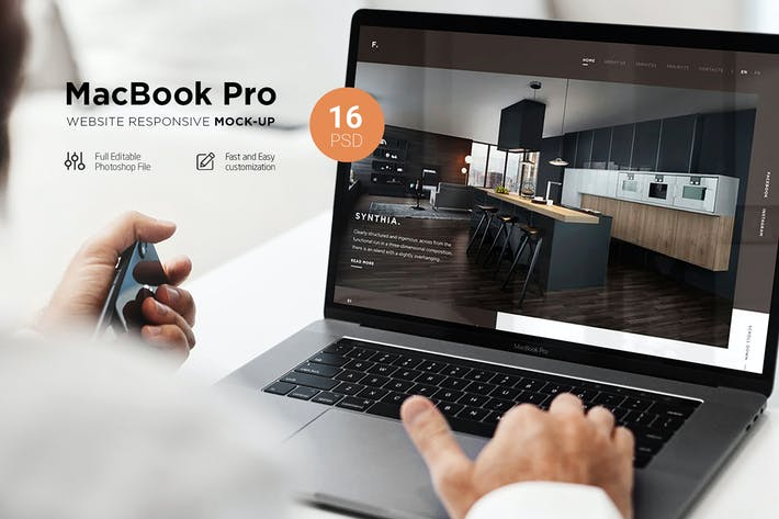 Thumbnail for MacBook Pro Responsive Mock-Up