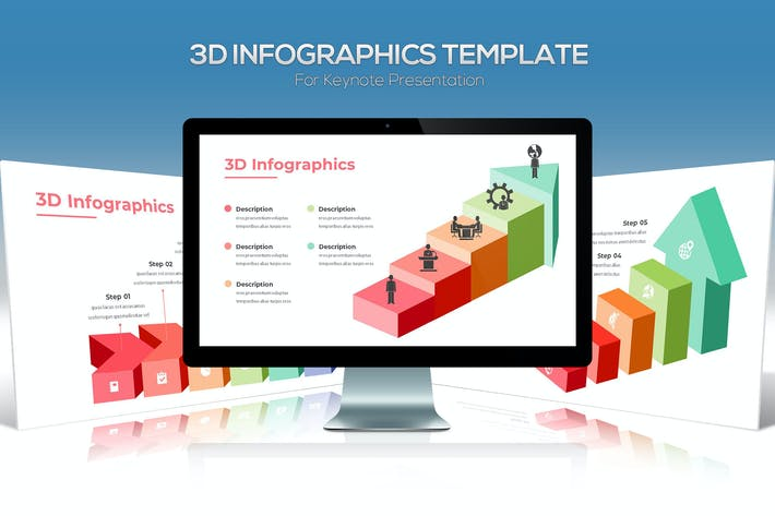 3D Infographics For Keynote Presentation