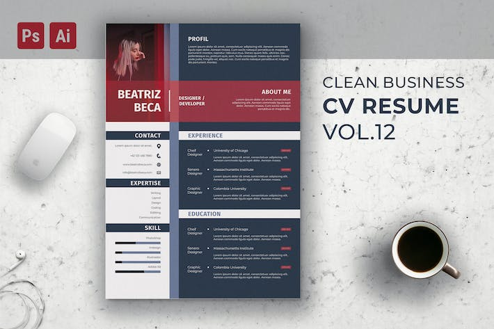 Cover Image For CV Resume Template Vol. 15