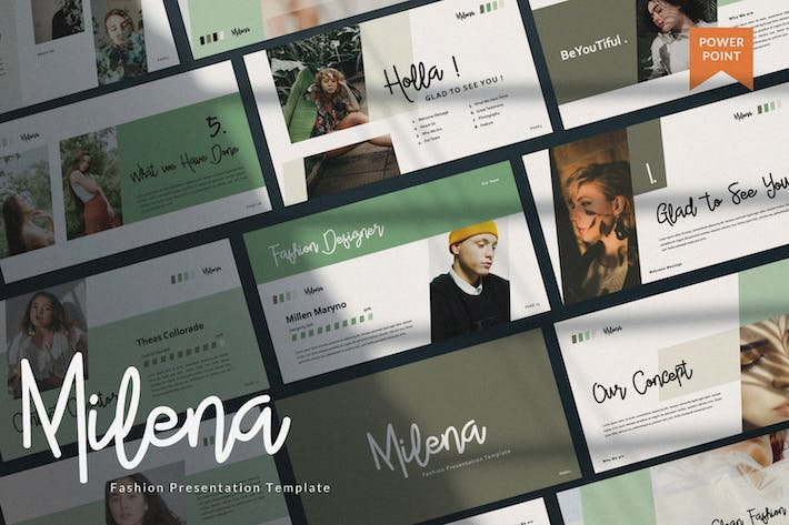 Cover Image For Milena Creative Powerpoint