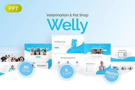 Welly Veterinary PowerPoint Presentation Template