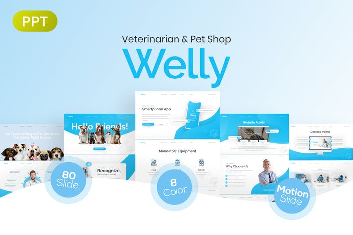 Thumbnail for Welly Veterinary PowerPoint Presentation Template