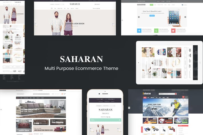 Thumbnail for SAHARAN - Responsive WordPress Theme