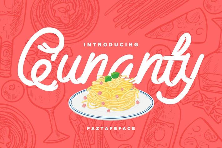 Thumbnail for Qunanty | Paztapeface Script Font