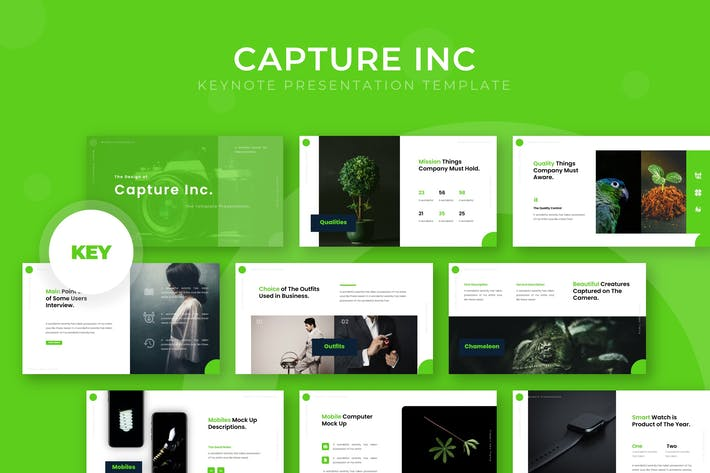 Thumbnail for Capture Inc - Keynote Template
