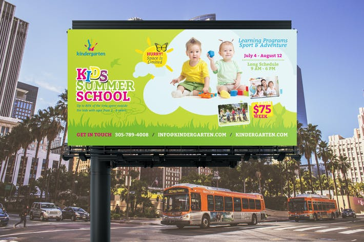 Thumbnail for Summer School Billboard Banner Template