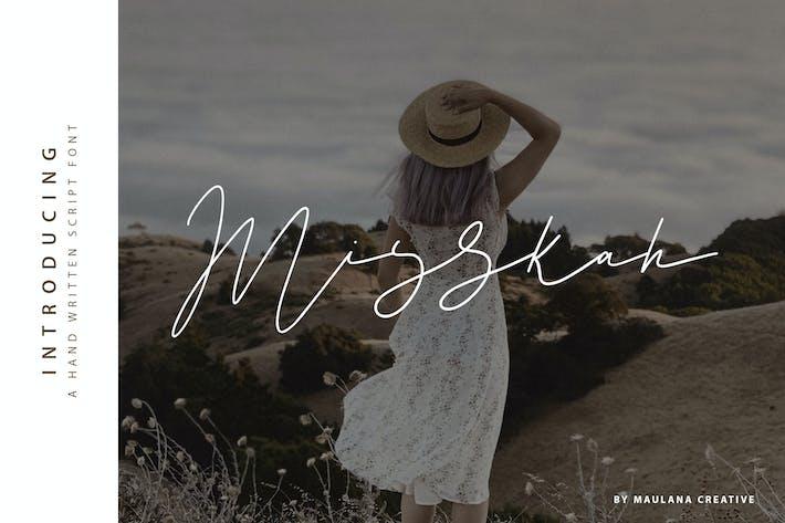 Thumbnail for Misskah Script Font
