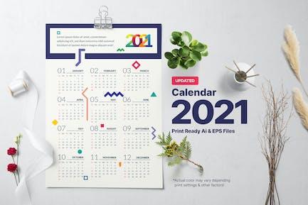 Geometric Calendar 2021