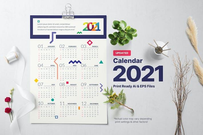 Geometrischer Kalender 2021