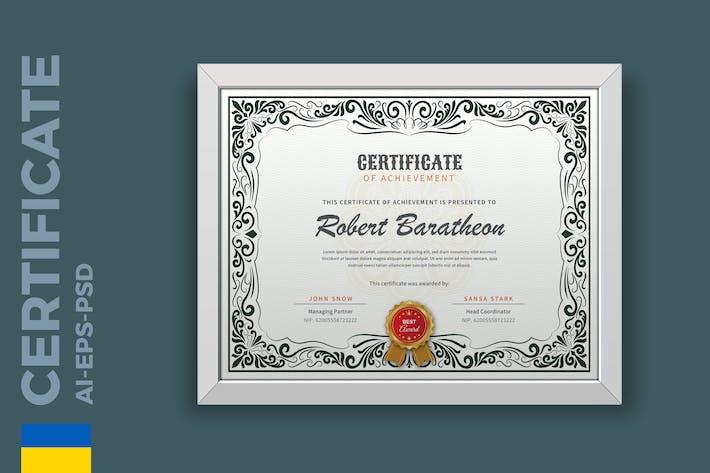 Thumbnail for Certificat Vintage/Modèle de diplôme Pro