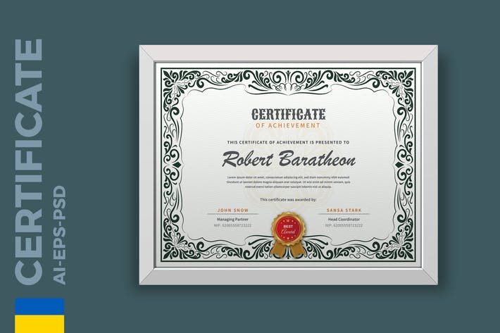 Thumbnail for Сертификат Vintage/Шаблон диплома Pro