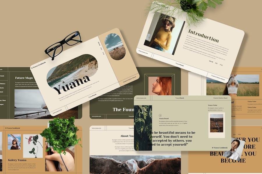 Yuana - Fashion Creative Googleslide Template