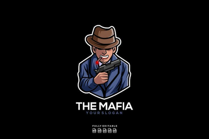 Thumbnail for The Mafia Gangster Logo