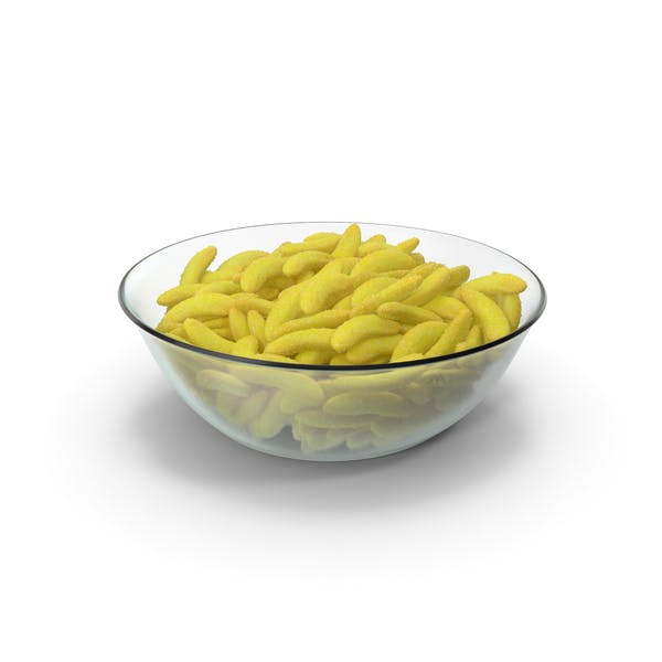 Bowl with Gummy Bananas