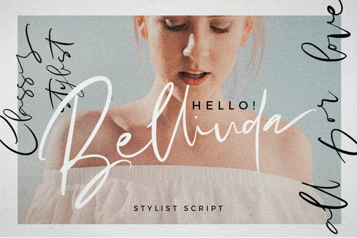 Cover Image For Hello Bellinda - Signature Wedding Script Font