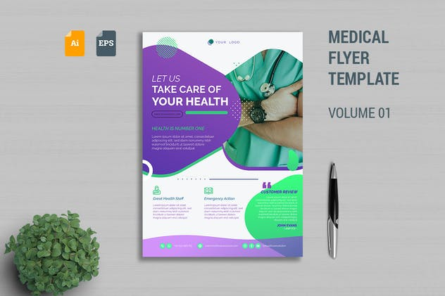 Medical Flyer Template Vol. 01