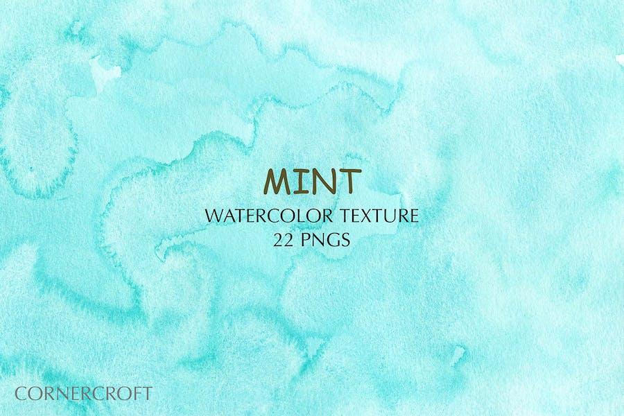 Watercolor Texture Mint