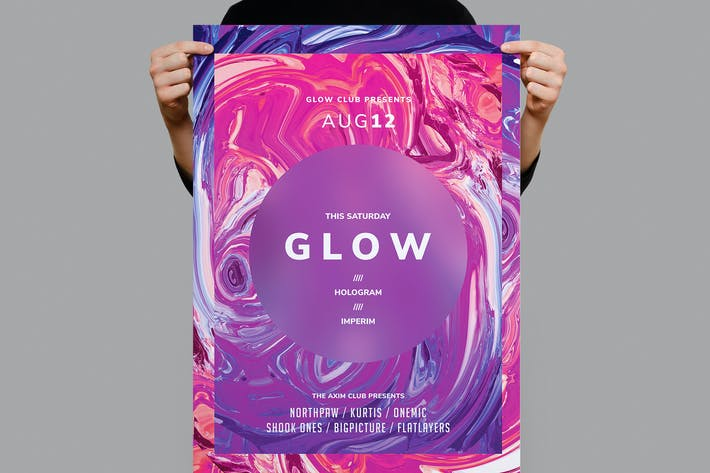 Thumbnail for Glow Poster / Flyer Template