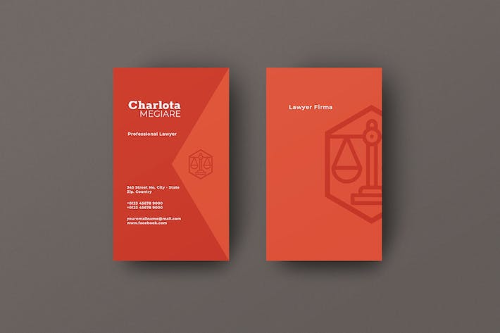 Thumbnail for Vertical Business Card Lawyer