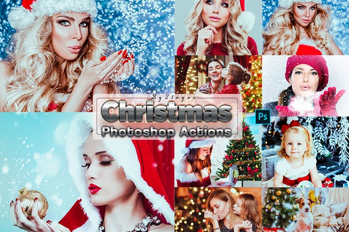 Thumbnail for Xmas Christmas Photosahop Actions