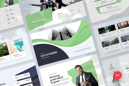 Annual Report & Infographic Powerpoint Template