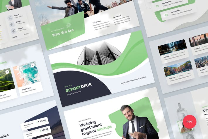 Thumbnail for Annual Report & Infographic Powerpoint Template