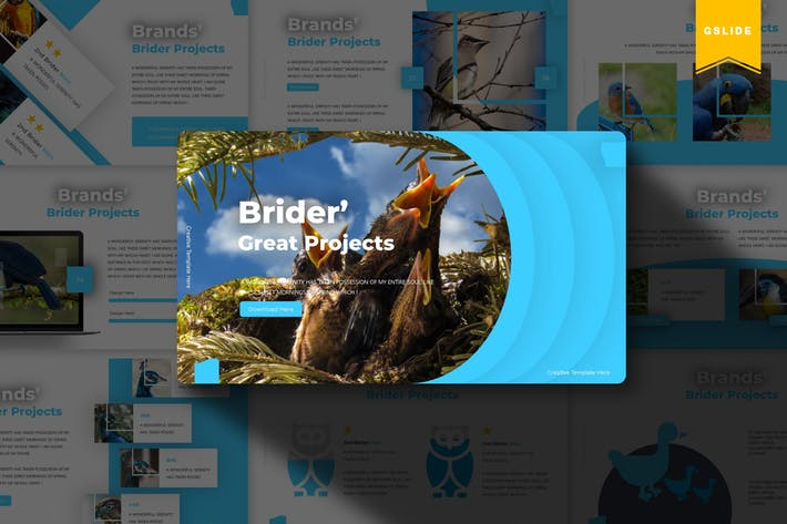Thumbnail for Brider   Google Slides Template