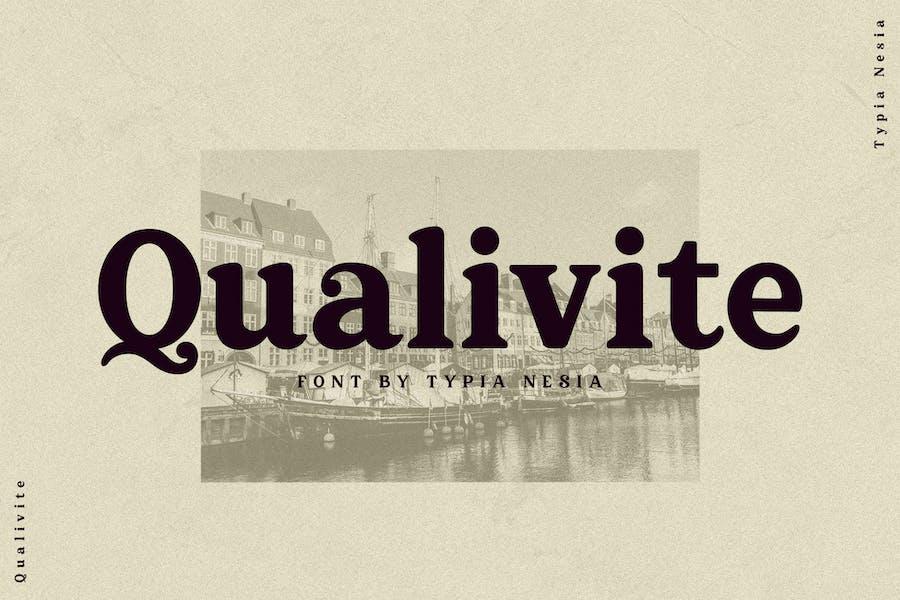 Qualivite Bold Serif Font