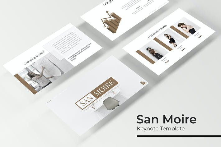 Thumbnail for San Moire - Keynote Template