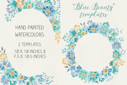 """Blue Beauty"" Floral Templates"