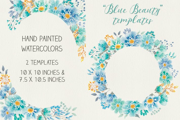 "Thumbnail for ""Blue Beauty"" Floral Templates"