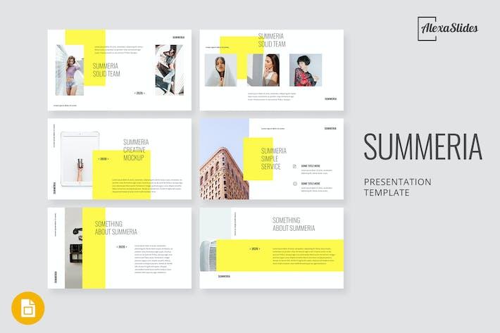 Thumbnail for Summeria - Minimal Google Slides Template