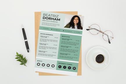 Director CV Resume Template