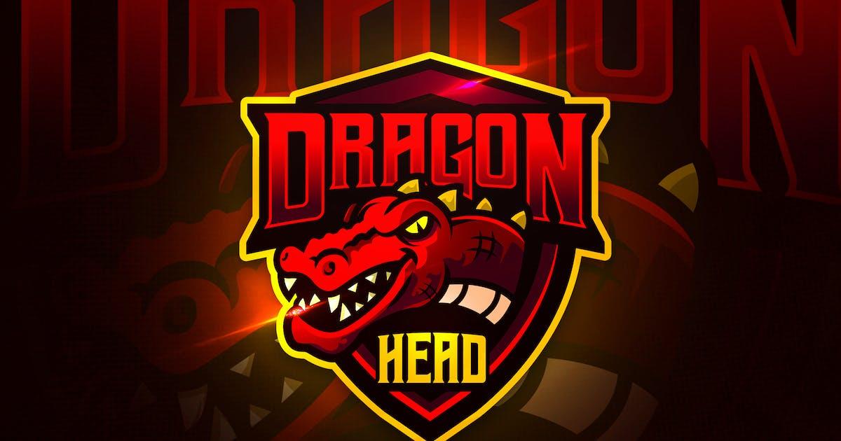 Download Dragon Head - Mascot & Esport Logo by aqrstudio