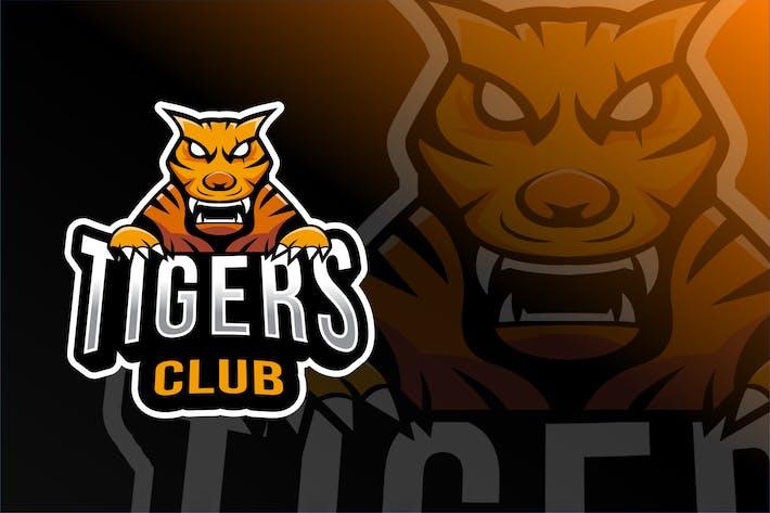 Thumbnail for Tigers Club Esport Logo Template