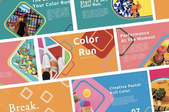 Творческий цветовой пробег - Google слайды
