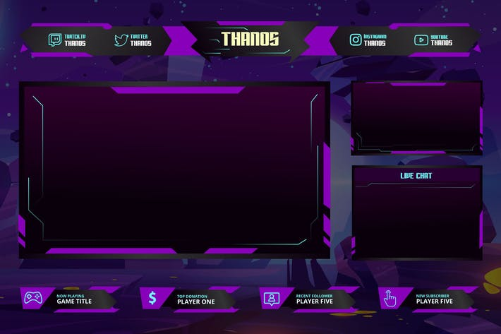 Thumbnail for Gaming - Twitch Overlay Template