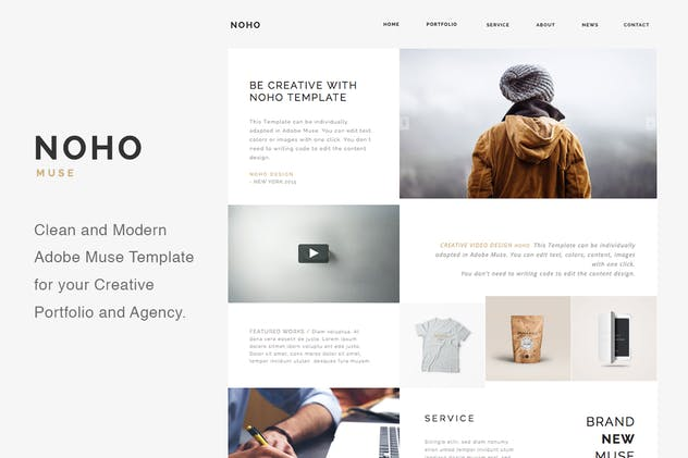 NOHO - Creative Agency Portfolio Muse Template - product preview 3