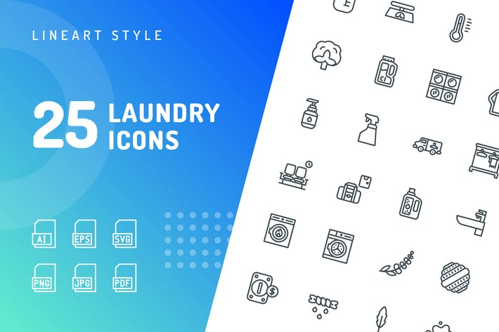 Thumbnail for Laundry Line Icons