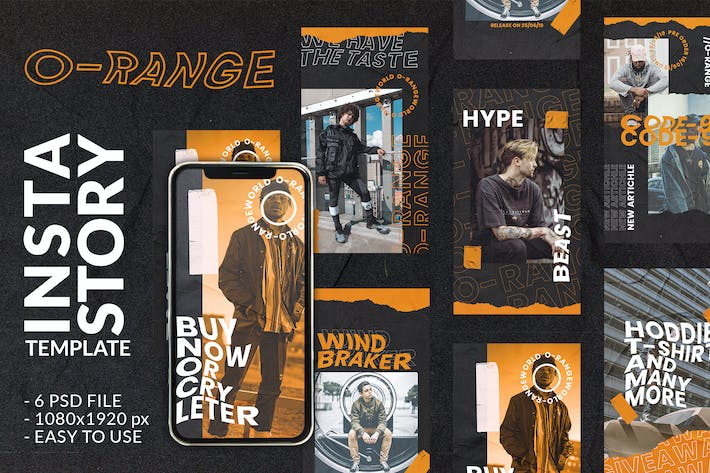 Thumbnail for O-Range Instagram Story and feed Post Template