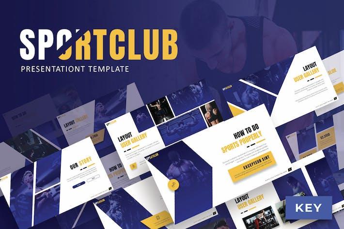 Спортивный клуб - Шаблон Keynote